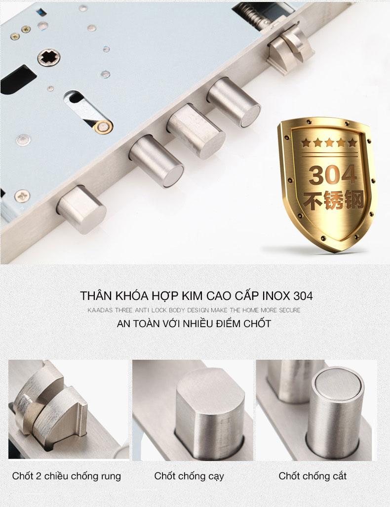khóa cửa Kaadas 6001 tân cổ điển