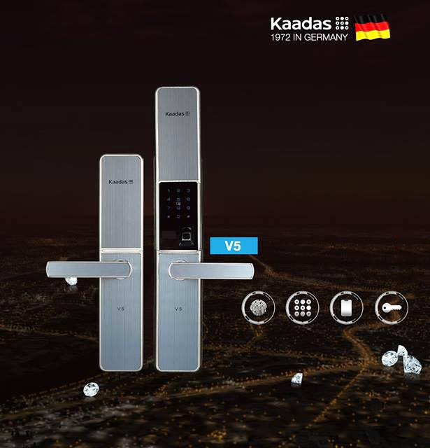 Khóa cửa thẻ từ mã số Kaadas V5