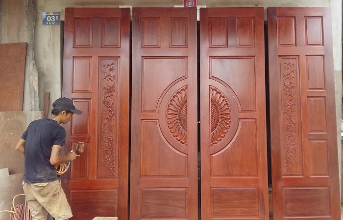 Kích thước cửa đi 4 cánh bằng nhau