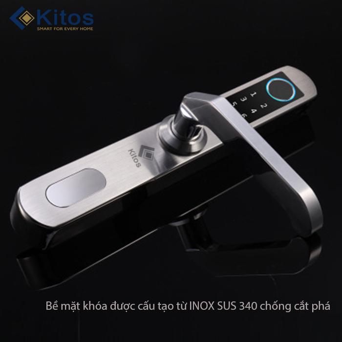 Khóa điện tử cho cửa đố hẹp Kitos AL450 inox