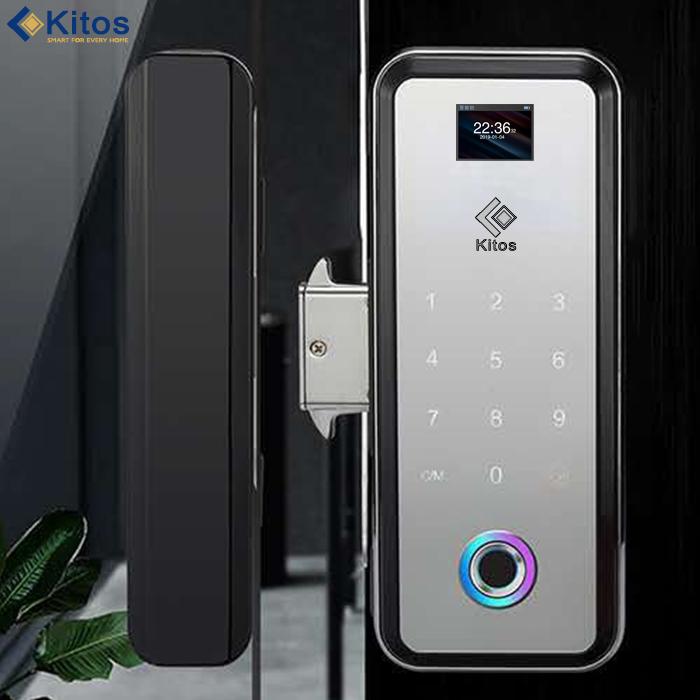 Khóa điện tử cửa kính cường lực điều khiển từ xa Kitos GL12 Remote