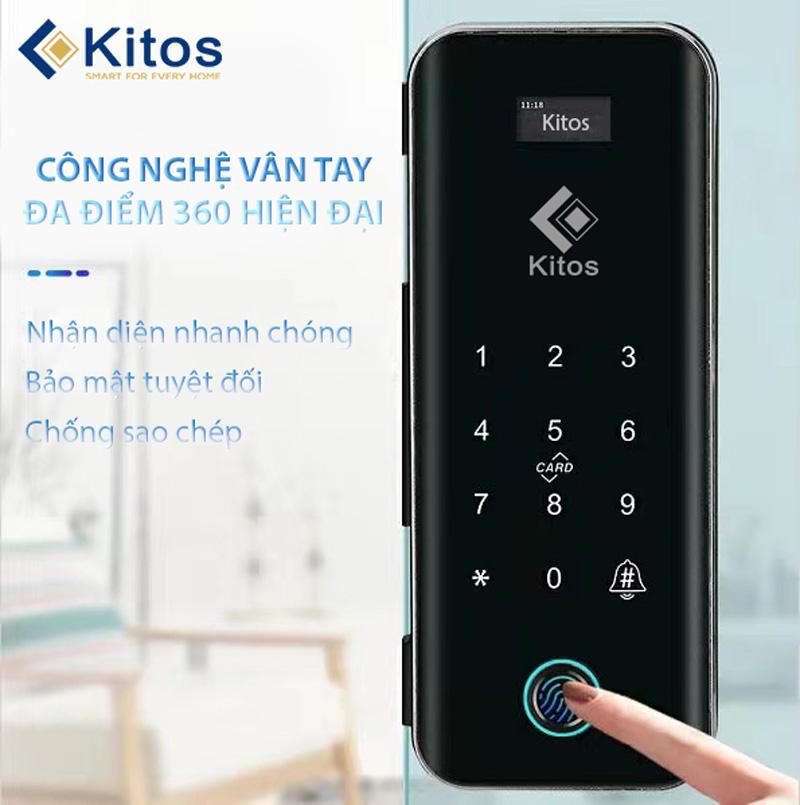 Khóa điện tử cửa kính Kitos GL50